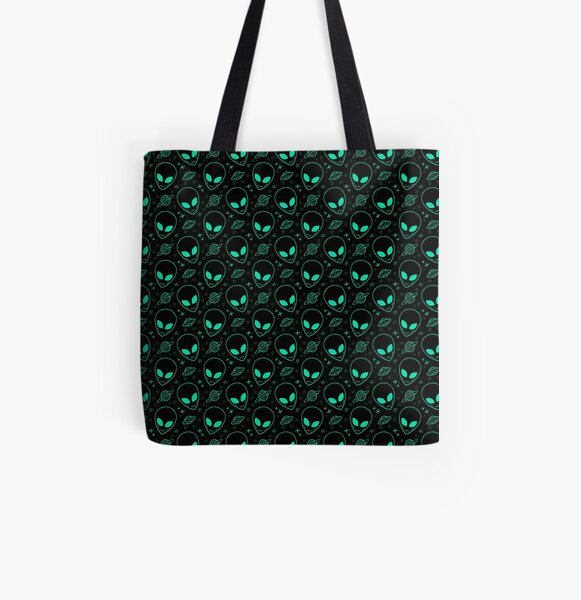 Alien Pattern All Over Print Tote Bag