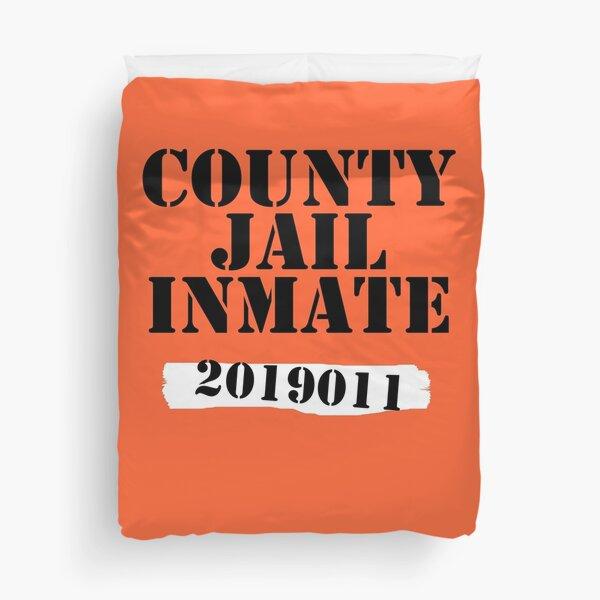 Orange Prisoner - County Jail Inmate Numbered Duvet Cover