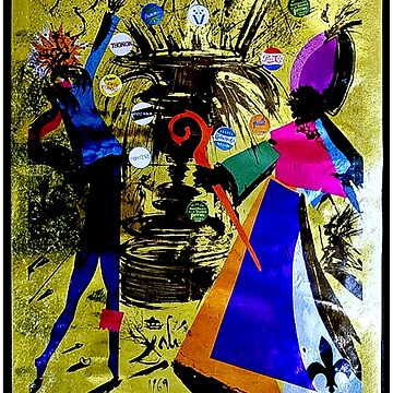 PERRIER WATER : Vintage 1969 Abstract Dali Advertising Print by posterbobs