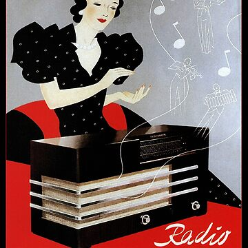 Vintage radio advertisement by Glimmersmith