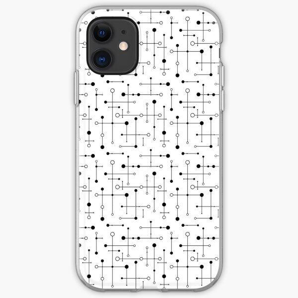 Mid Century Styled Lines & Dots  iPhone Soft Case