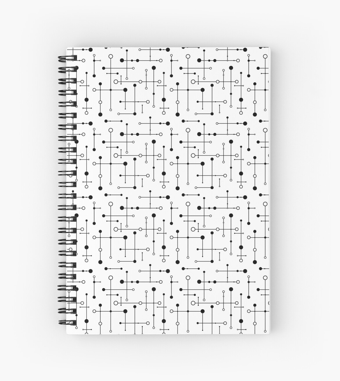 MCM Lines & Dots - Black & White by ambientwares