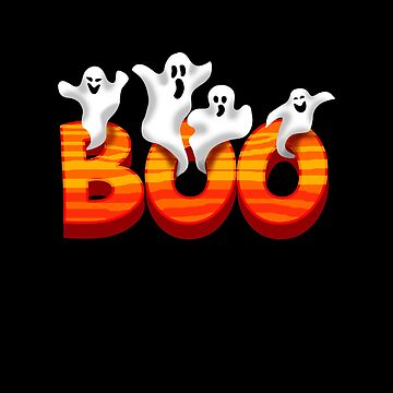 Silly Ghosts Boo Halloween Design  by aronia