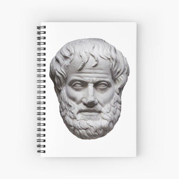 Aristotle white Spiral Notebook
