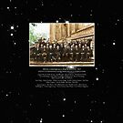 1927 Solvay Conference (deep space NGC3660 bg), posters, prints by GodsAutopsy