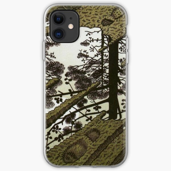 Puddle 1952 paradox - Maurits Cornelis Escher iPhone Soft Case