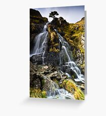 Dovedale Cascade Greeting Card