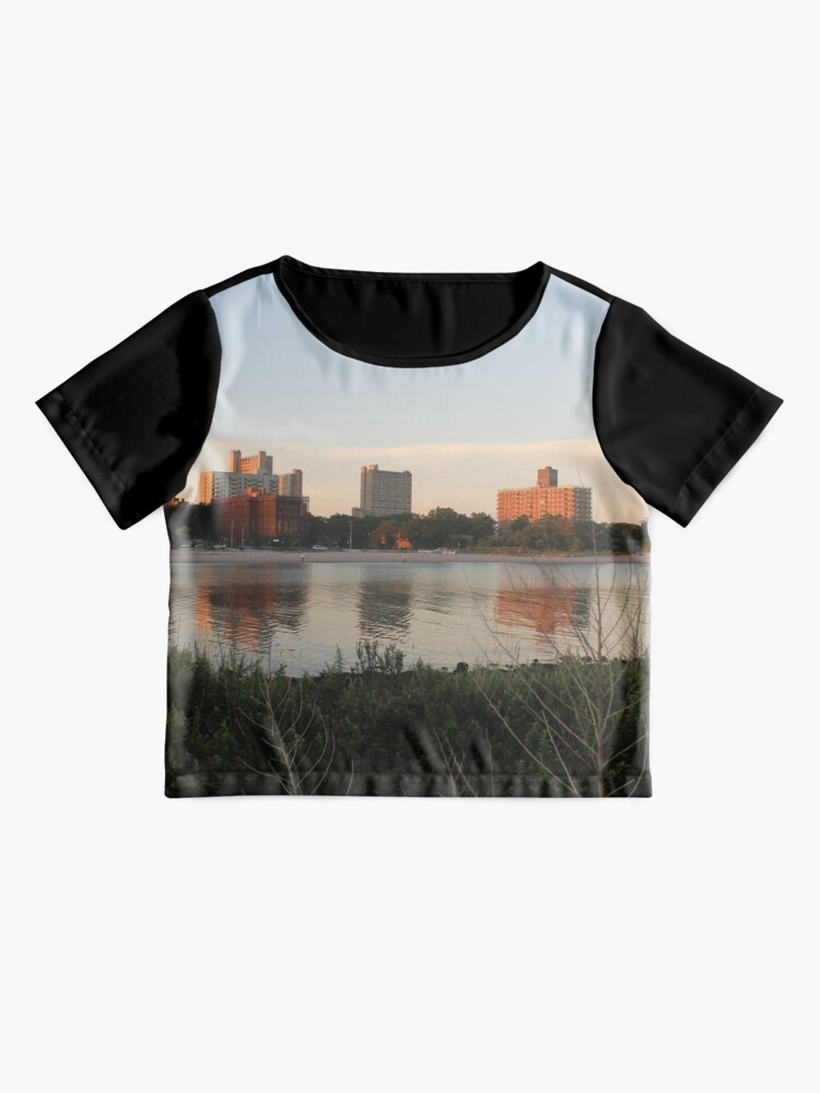 Alternate view of #city #skyline #water #river #cityscape #urban #building #architecture #sky #blue #buildings #panorama #view #downtown #sunset #park #reflection #travel #evening #dusk #lake #panoramic #newyork Chiffon Top
