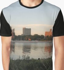 #city #skyline #water #river #cityscape #urban #building #architecture #sky #blue #buildings #panorama #view #downtown #sunset #park #reflection #travel #evening #dusk #lake #panoramic #newyork Graphic T-Shirt