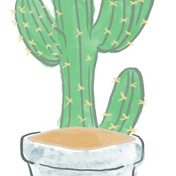 Potted Cactus by Bunnyfuncake