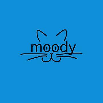 It's okay to be moody cat shirt by alittlebluesky
