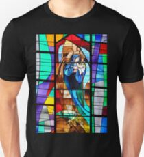 Stained Glass Nativity Scene Unisex T-Shirt