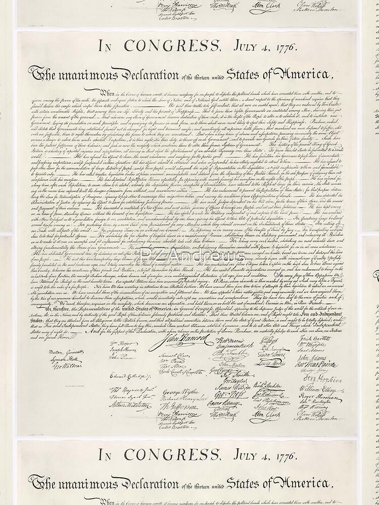 U.S. Declaration of Independence by PZAndrews