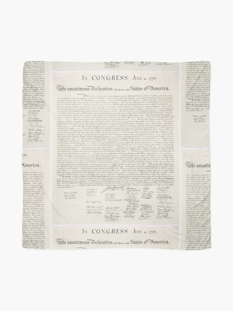 Alternate view of U.S. Declaration of Independence Scarf