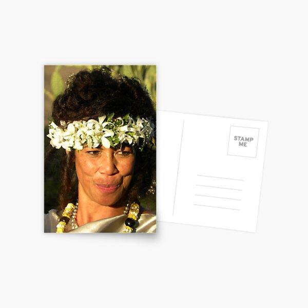 Samoan Bride Postcard