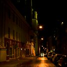 Car in street (My city)  by Antanas