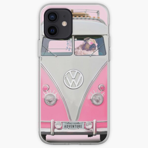 Pug Girly Adventure iPhone Soft Case