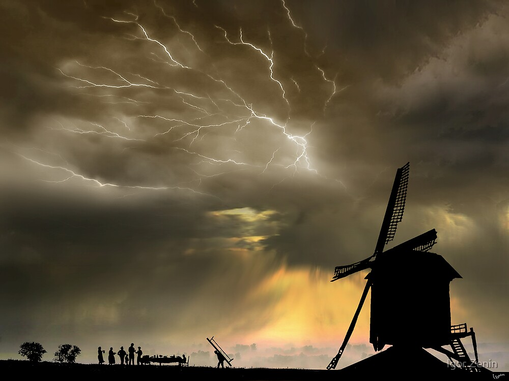 Windmill Supper by Igor Zenin