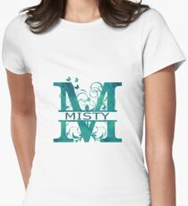 Misty | Girls Name Monogram | Watercolor and Butterflies Women's Fitted T-Shirt