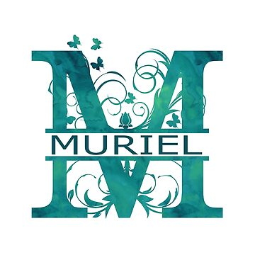 Muriel | Girls Name Monogram | Watercolor and Butterflies by PraiseQuotes