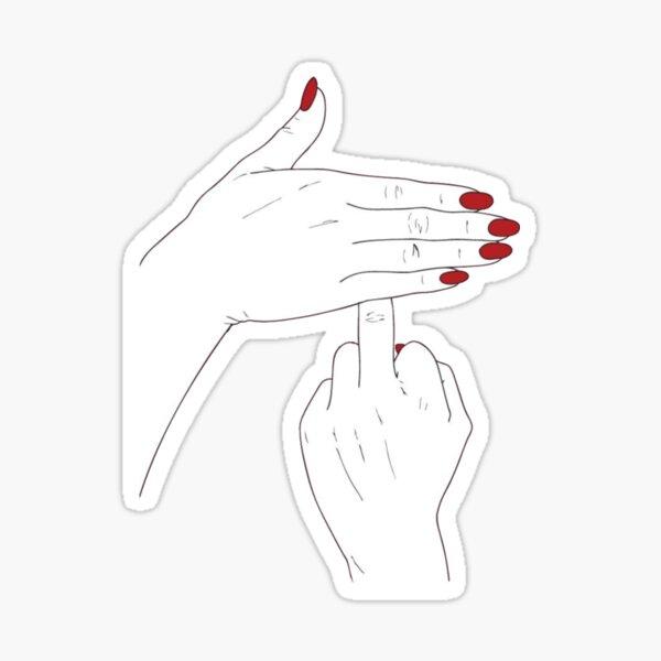 Middle finger up Sticker