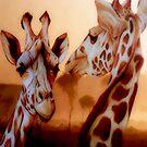 Giraffe Pair by WishesandWhims