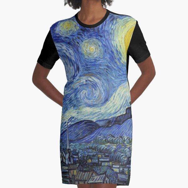 Die Sternreiche Nacht T-Shirt Kleid