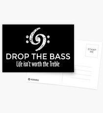 Postales Drop the Bass 69 Vintage White