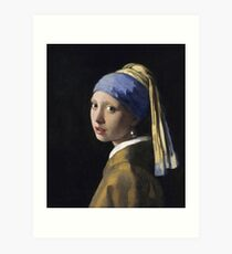 The Girl With The Pearl Earring Art Print