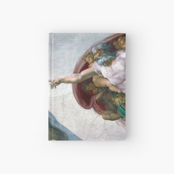 The Creation of Adam Hardcover Journal
