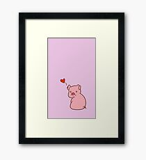 Love Pig Framed Print