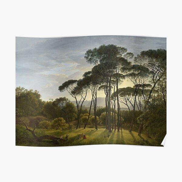 Italian Landscape with Umbrella Pines - Hendrik Voogd Poster