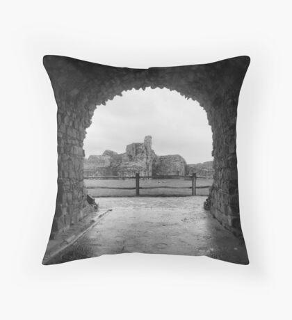 pevensey castle Throw Pillow