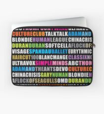 80s new wave music #black Laptop Sleeve