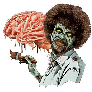 Bob ross zombie by aixaexex47