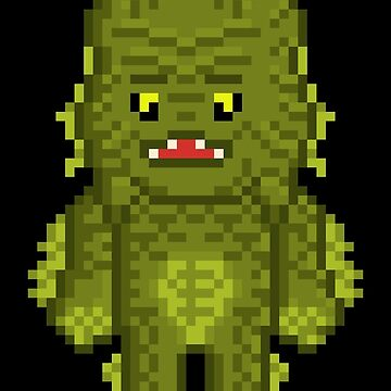 Pixel Monster Lagoon Creature by gkillerb