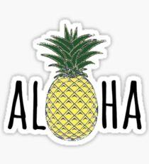 aloha with pineapple  Sticker