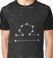 Waage Sternzeichen Konstellation Design Grafik T-Shirt