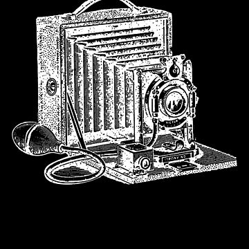 Antique Camera Vintage I Love Photography Photos White by zot717