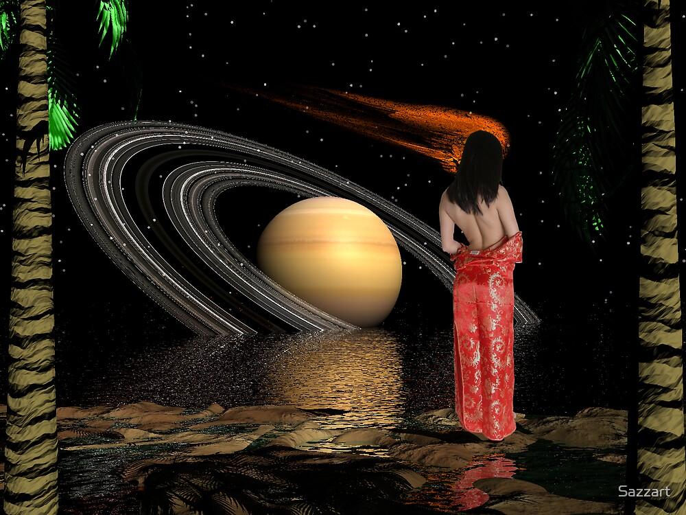 Saturn's  Tidal Pool by Sazzart