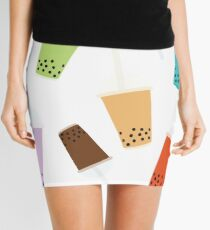 BUBBLE TEA PATTERN Mini Skirt