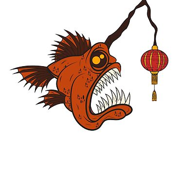 Lanterns fish sea chinese lamp teeth funny by MyShirt24