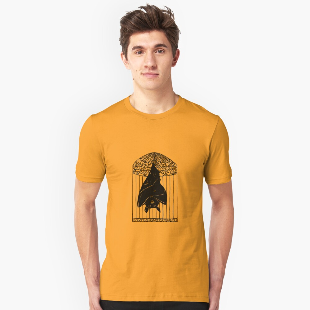Bat in a Cage Unisex T-Shirt Front