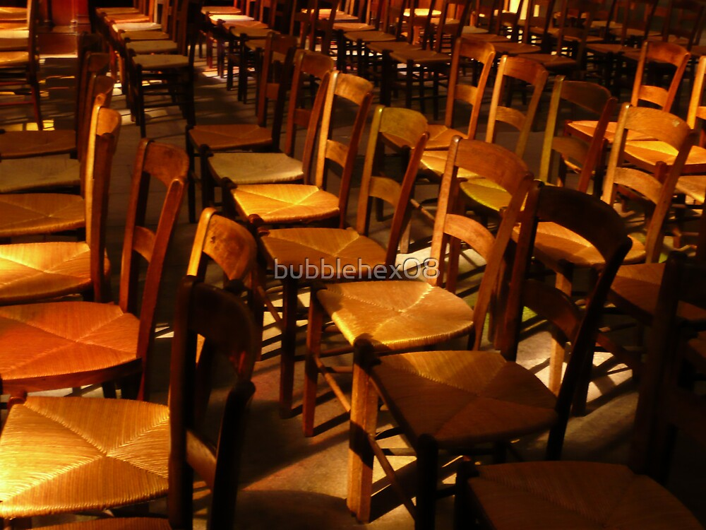 Chairs in a church by bubblehex08