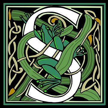 Nouveau Celtic Frog Letter 2018 by Donnahuntriss