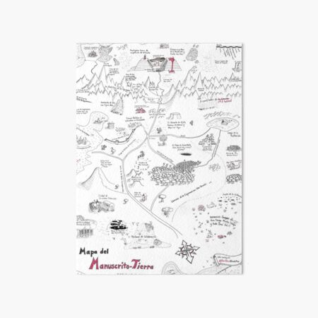 The Map of Manuscript Earth - in Spanish! Art Board Print