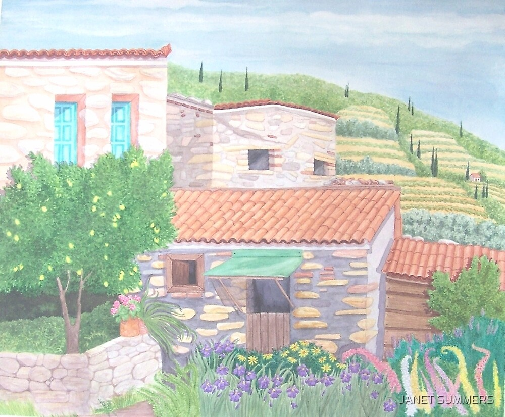 Manolates, Stone houses by JANET SUMMERS