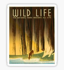 Wildlife, Works Progress Administration Sticker