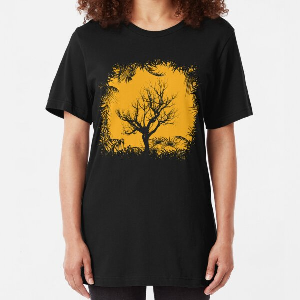 Tree Clearing To The Sun Slim Fit T-Shirt