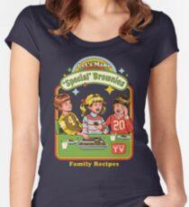 Lass uns Brownies machen Tailliertes Rundhals-Shirt